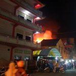 Ruko Dekat Pasar Malam Tanjungbalai Kota Terbakar