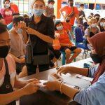 Antusiasme Masyarakat Ikut Vaksin di Polres Karimun Tinggi